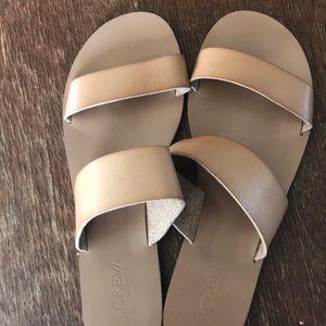 J crew double strap sandals